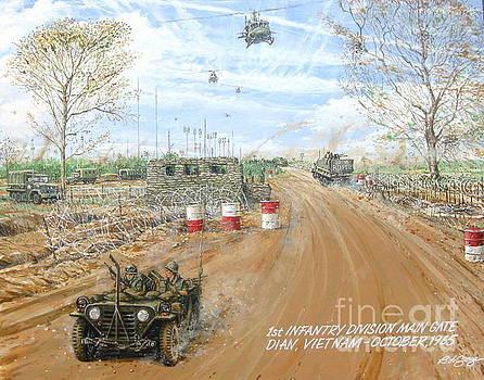 Big Red One Main Gate Di An Vietnam 1965 by Bob George