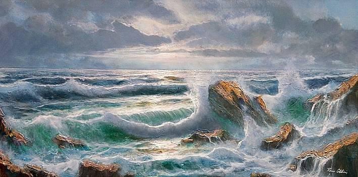 Big seastorm - Italy by Remo Aldini