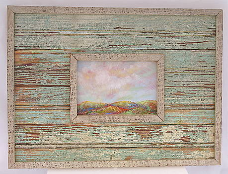 Big Sky in frame of salvaged wood from a home destroyed by Hurricane Katrina by Cheryl Brumfield Knox
