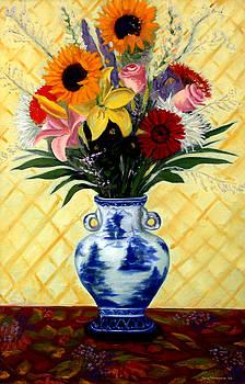 Big Sunflower Bouquet by Jane  Simonson