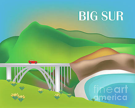 Big Sur Horizontal Skyline by Karen Young