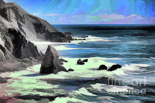 Chuck Kuhn - Big Sur Ocean Views Paint