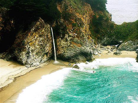 Big Sur Waterfall by Jerome Stumphauzer