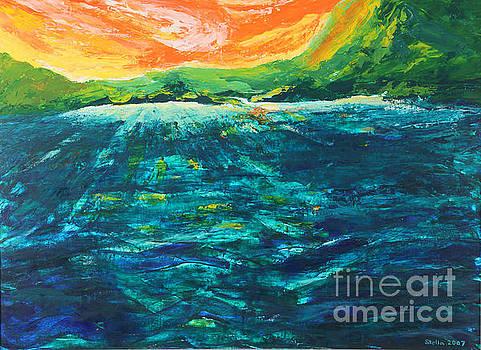 Big Tropical Wave by Stella Sherman