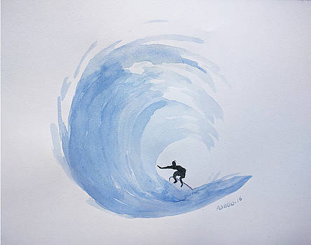 Big Wave Surfing by Edwin Alverio