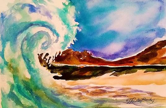 Big Wave Waimanalo by Therese Fowler-Bailey