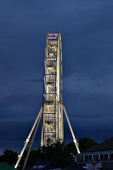 Big Wheel Lit Up at Dusk by Jeremy Hayden