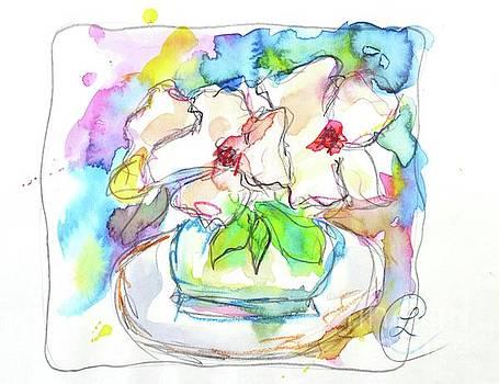 Big White Flowers by Lynda Cookson