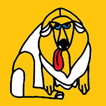 Stan  Magnan - Big Yellow Panting Dog