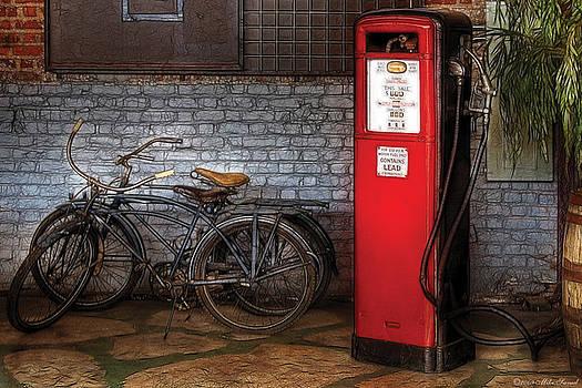 Mike Savad - Bike - Two Bikes and a Gas Pump