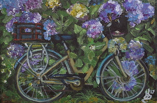 Bike and Bush by Kim Selig