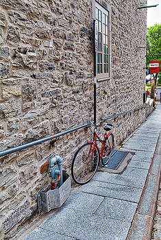 Bike in Quebec City by Darcy Michaelchuk