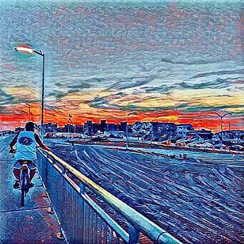 Bike Ride Sunset by Rita Tortorelli