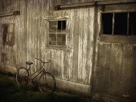 Bike with Barn by Cynthia Lassiter