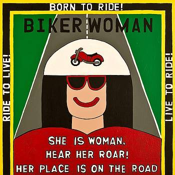 Biker Woman by MaryAnn Kikerpill