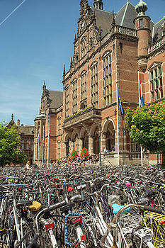 Bikes in front of Dutch university by Patricia Hofmeester