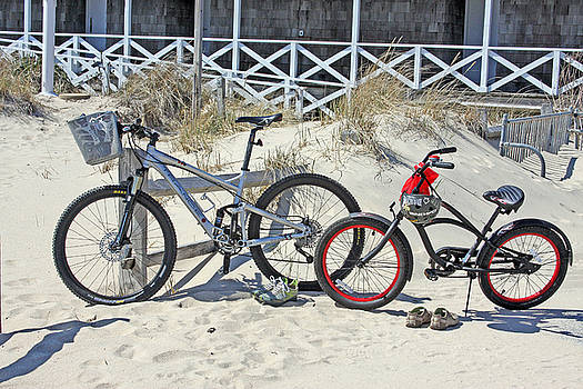 Bikes In The Sand by Andrea Lucas