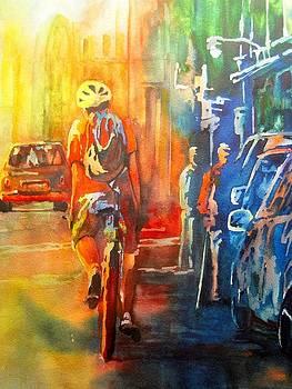 Biking in Boston by Jerry Aissis