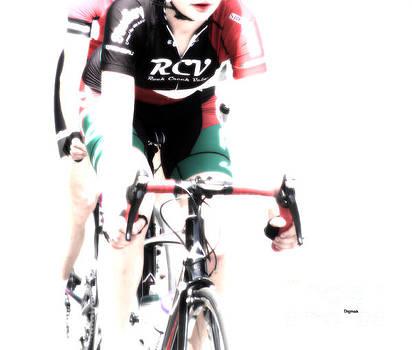 Biking In Her RCV by Steven  Digman
