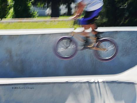Biking the Skateboard Park 5 by Kae Cheatham
