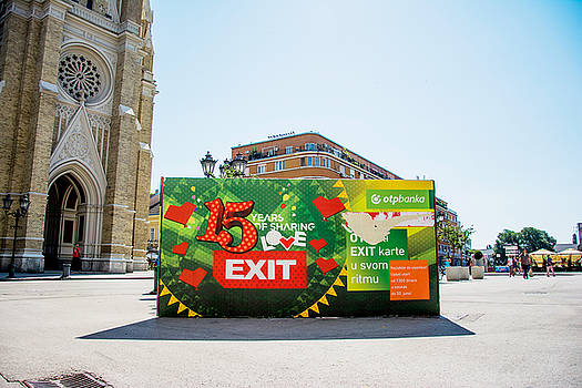 Newnow Photography By Vera Cepic - Bilboard of EXIT festival 2015 in city center of Novi Sad