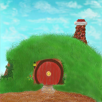 Bilbo's home in the  Shire by Kevin Caudill
