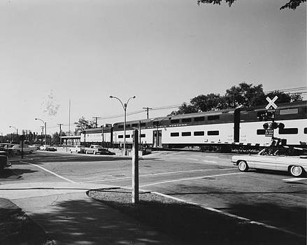Bilevel Train in Park Ridge - 1961 by Chicago and North Western Historical Society