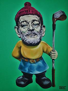 Bill Murray Golf Gnome by Brent Andrew Doty