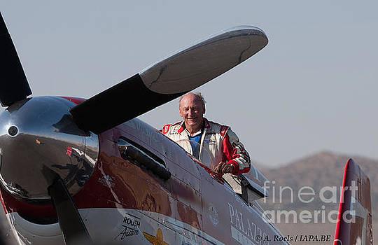 Bill -Tiger- Destefani winner of the Reno Air Races in 2008 with P-51 Strega by Antoine Roels