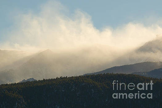 Steve Krull - Billowing Snow on Pikes Peak Colorado