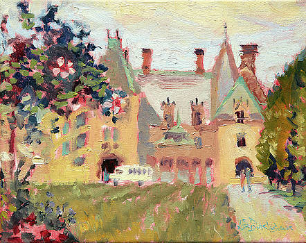 Biltmore House with Blossoming Tree by Lisa Blackshear