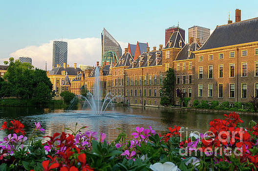 Binnenhof in Flowers at Sunset, The Hague by Sinisa CIGLENECKI