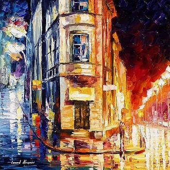 Bipolar Liberty Corner - PALETTE KNIFE Oil Painting On Canvas By Leonid Afremov by Leonid Afremov