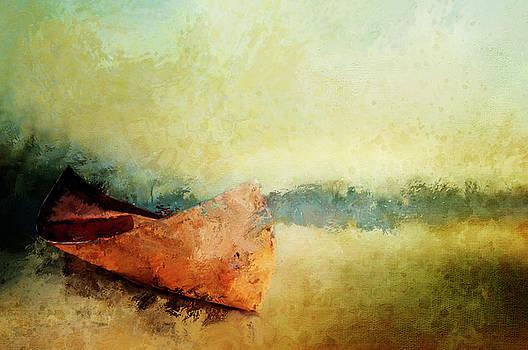 Birch Bark Canoe At Rest by Christina VanGinkel