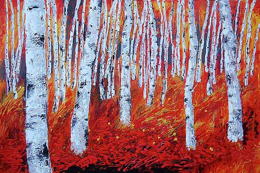 Birch in Gold by Leon Zernitsky