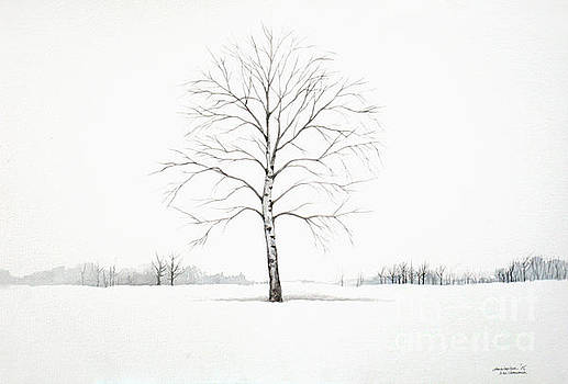 Christopher Shellhammer - Birch Tree upon the Winter Plain