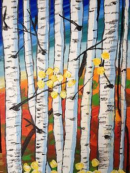 Birch Trees by Helen Kuhn