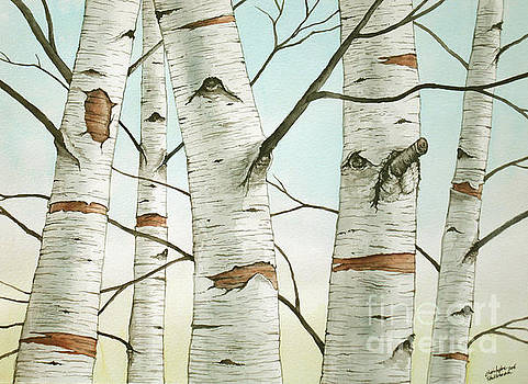 Christopher Shellhammer - Birch Trees in Late Autumn