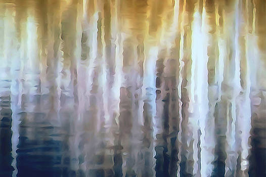 Birch Trees Reflection by Lori Pessin Lafargue