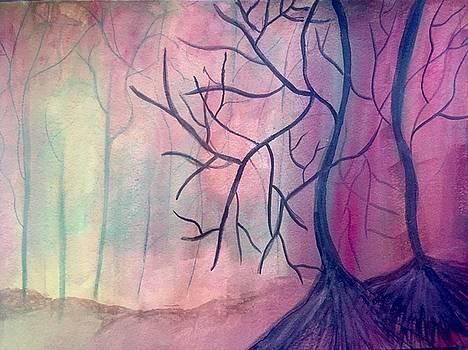Birch trees by Rabiah  Hasan