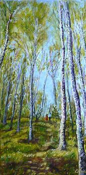 Birch Trees by Regina Slavin