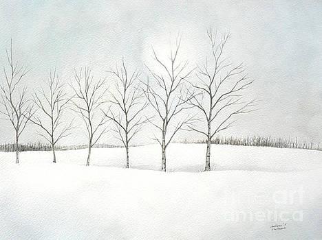 Christopher Shellhammer - Birch Trees Under the Winter Sun