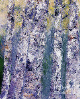 Birches 2 by Claire Bull