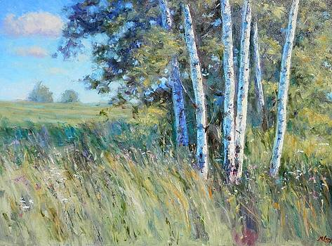 Birches by the Roadside by Michael Camp