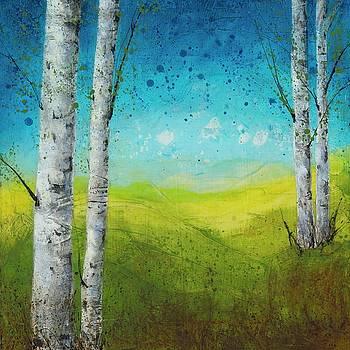 Birches In Green by Brenda O'Quin