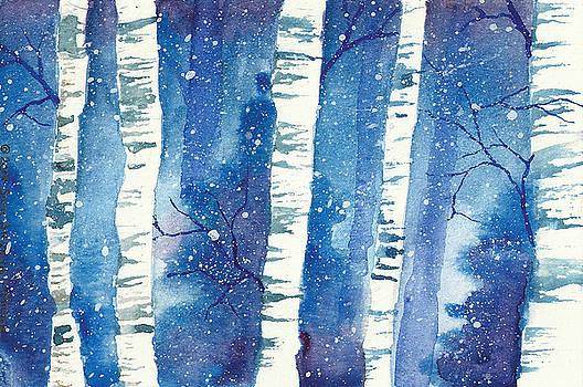 Birches in the Snow by Sara Alexander Munoz