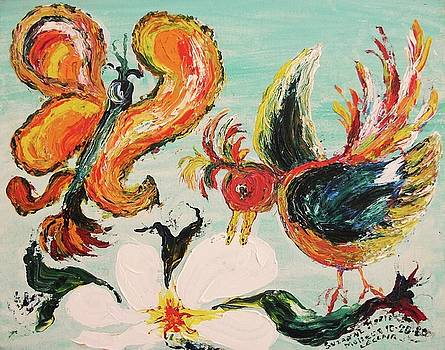 Suzanne  Marie Leclair - Bird and Butterfly