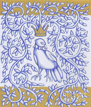 Bird Crown Gold by Donna Huntriss