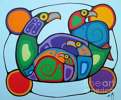 Bird Family by Jim Oskineegish