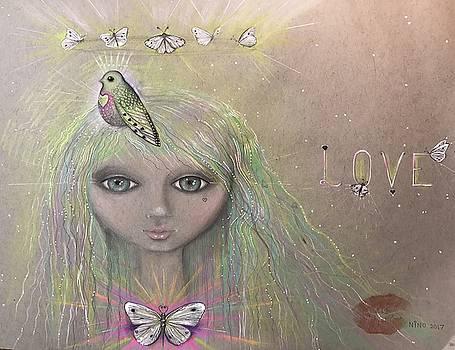 Bird from spirit world  by Nino Gabashvili